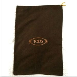 Authentic TOD'S Drawstring Dust Bag Brown Cover